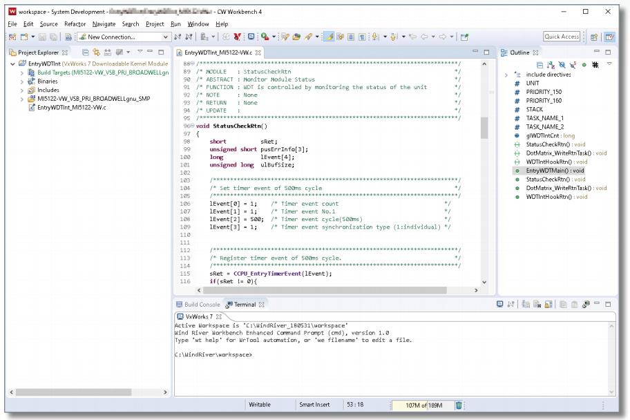Softvér CW Workbench 4 - Ukážka prostredia