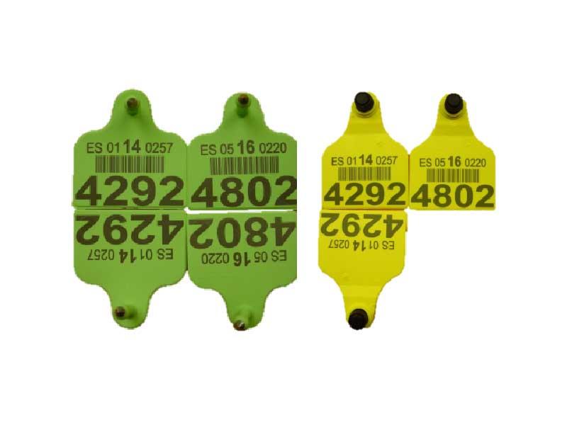 Datalogic AREX 50W - Značenie štítkov na uši dobytka