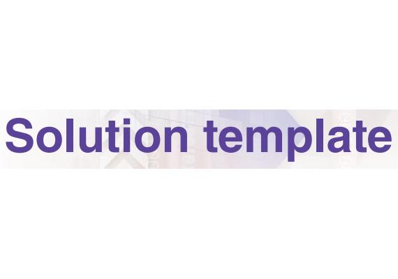 Softvér Solution Template - Šablóny riešení