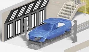Automatizácia v automotive - Kontrola laku